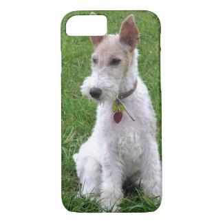ワイヤーフォックステリア犬sitting.png iPhone 8/7ケース