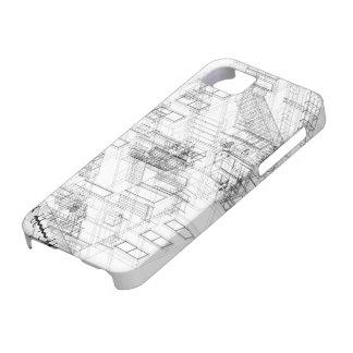 ワイヤーフレームのIphoneの建築場合 iPhone SE/5/5s ケース