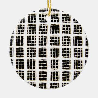 ワイヤー円の抽象美術の効果の光沢のある壁の芸術 セラミックオーナメント
