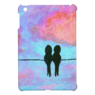 ワイヤー抽象美術の絵画の2羽の黒い鳥 iPad MINI CASE