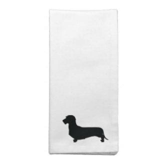 ワイヤー毛のダックスフントの布のナプキン ナプキンクロス