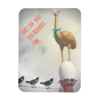 ワイヤー磁石のレトロのユーモアのあるな文字のだちょうの鳥 マグネット