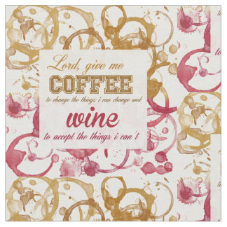 ワインおよびコーヒーQuotable生地 ファブリック