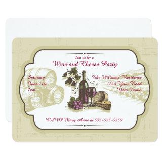 ワインおよびチーズパーティー カード