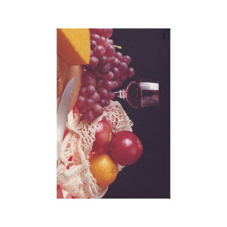 ワインおよびチーズ午後 キャンバスプリント