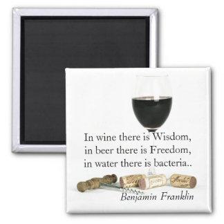 ワインおよびビールユーモアのあるな引用文 マグネット