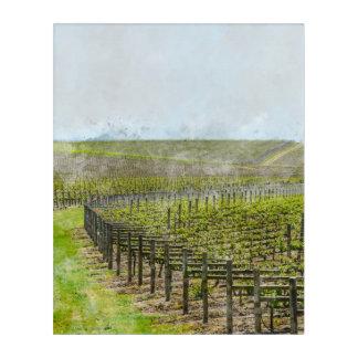 ワインおよびブドウの装飾 アクリルウォールアート