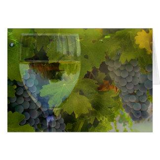 ワインおよびブドウは感謝していしています グリーティングカード