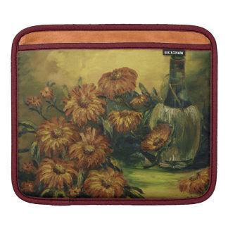 ワインおよび花のiPadの袖 iPadスリーブ