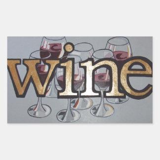 ワインだれでも 長方形シール