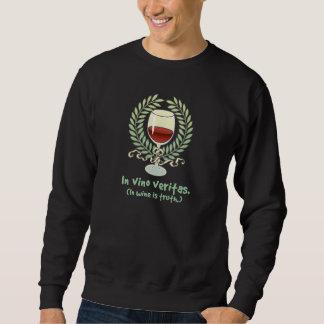 ワインで真実はあります スウェットシャツ