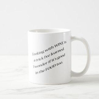ワインとの調理 コーヒーマグカップ