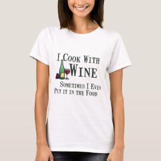 ワインとの調理 Tシャツ