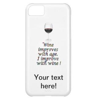 ワインのおもしろいな文字 iPhone5Cケース