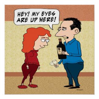 ワインのおもしろいな目 ポスター