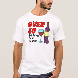 ワインのように老化する60に Tシャツ