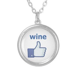 ワインのように シルバープレートネックレス