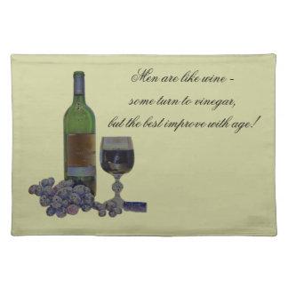 ワインのアメリカ人のMoJoのユーモアのあるでモダンなランチョンマット ランチョンマット
