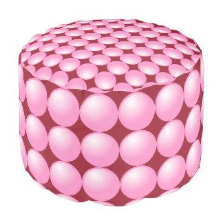 ワインのカスタム色の泡マニアのピンクのドット・パターン プーフ