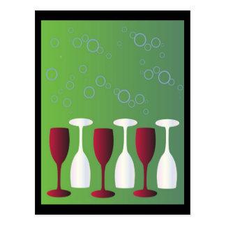 ワインのガラスを持って下さい! ポストカード