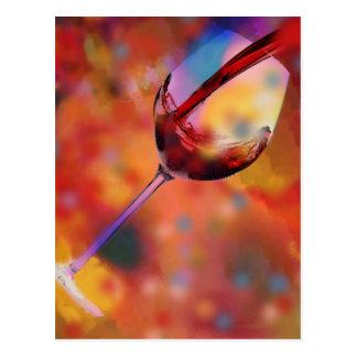 ワインのガラス ポストカード