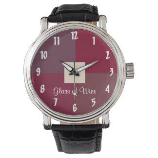 ワインのガラス 腕時計