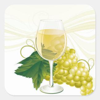 ワインのステッカー スクエアシール