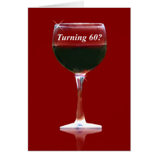ワインのテーマの幸せな第60誕生日のおもしろカード グリーティングカード