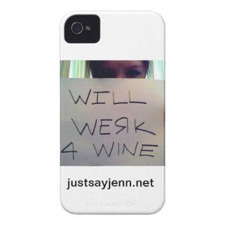 ワインのデザインのためのWerk Case-Mate iPhone 4 ケース