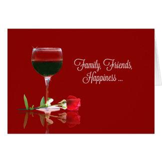 ワインのハッピーバースデーカード、家族、友人 カード