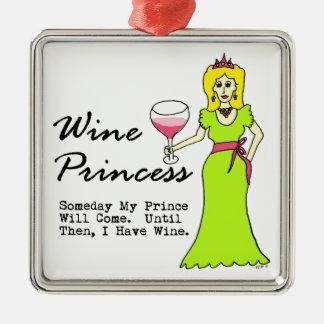 """ワインのプリンセス""""いつの日かCome私の王子"""" メタルオーナメント"""