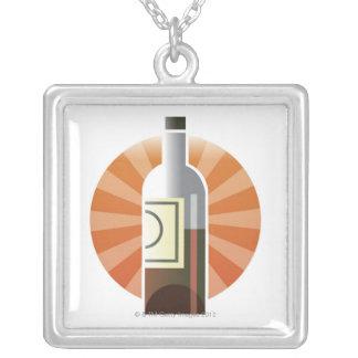 ワインのボトル シルバープレートネックレス