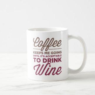 ワインのマグを飲むことは受諾可能になるまで コーヒーマグカップ