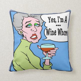 ワインの女性 クッション