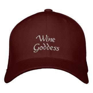 ワインの女神 刺繍入りキャップ