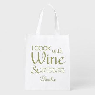 ワインの引用文の名前をカスタムするのエコバッグ エコバッグ