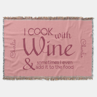 ワインの引用文の名前をカスタムするの投球毛布 スローブランケット