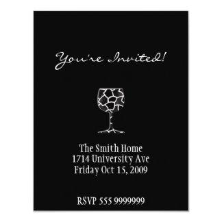 ワインの招待カード カード
