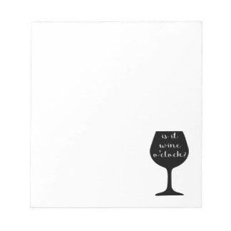 ワインの時 ノートパッド