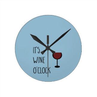 ワインの時 ラウンド壁時計