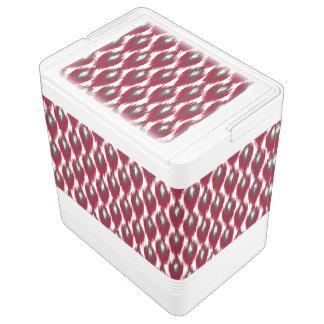 ワインの灰色の抽象芸術の種族のイカットのダイヤモンドパターン IGLOOクーラーボックス