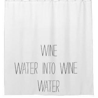 ワインの生命の円 シャワーカーテン