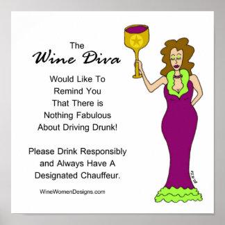 ワインの花型女性歌手からの重要なメッセージ ポスター
