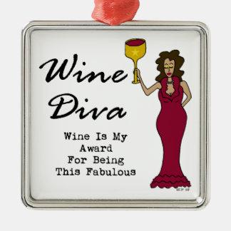 """ワインの花型女性歌手""""ワインですのための私の賞すばらしい""""は メタルオーナメント"""