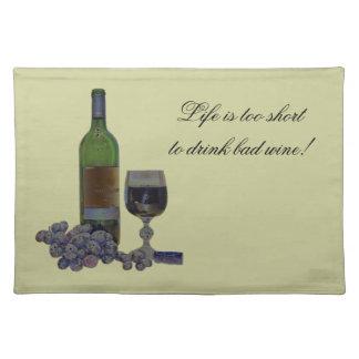 ワインの芸術のアメリカ人のMoJoのユーモアのあるでモダンなランチョンマット ランチョンマット