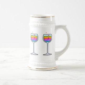 ワインの芸術ビールステイン ビールジョッキ