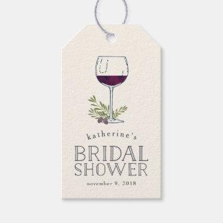 ワインの試飲のブライダルシャワーのメッセージカード ギフトタグ