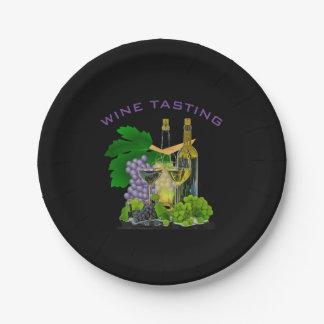 -ワインの試飲の紙皿をパーティを楽しむ時間 ペーパープレート