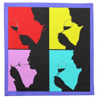 ワインの試飲ははっきりしたな破裂音芸術のカクテルのナプキン歩みます ナプキンクロス