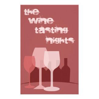 ワインの試飲 チラシ